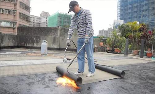SBS防水卷材热熔施工